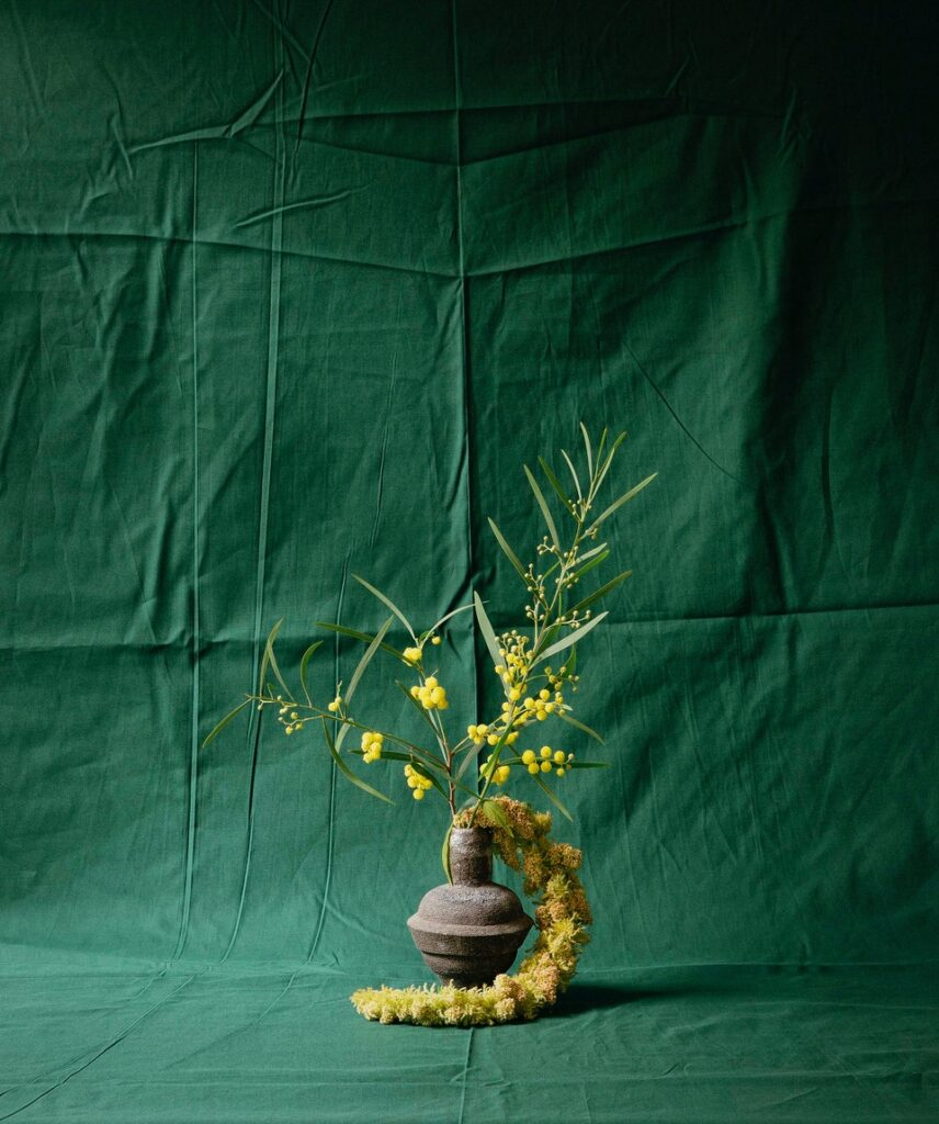 Ikebana inspired flower pieces by Wilder Antwerp for a shoot by Frederik Vercruysse for Absoluut Magazine