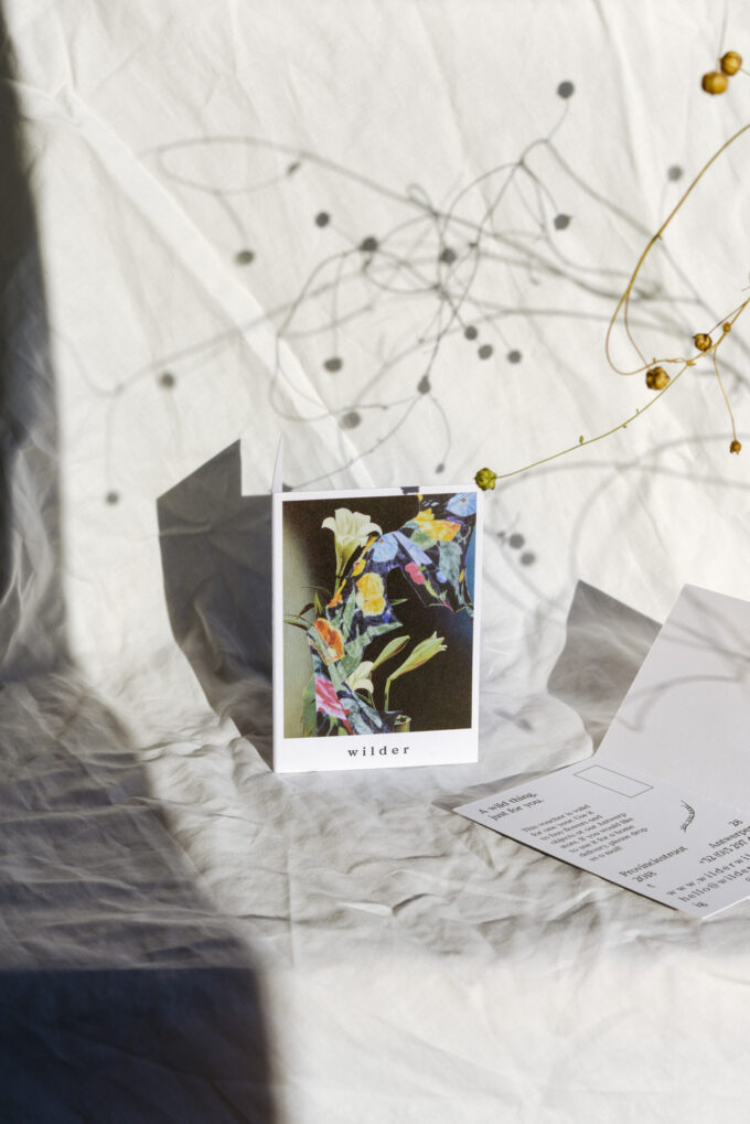 Gift voucher to buy seasonal flowers and everyday objects at Wilder Antwerp