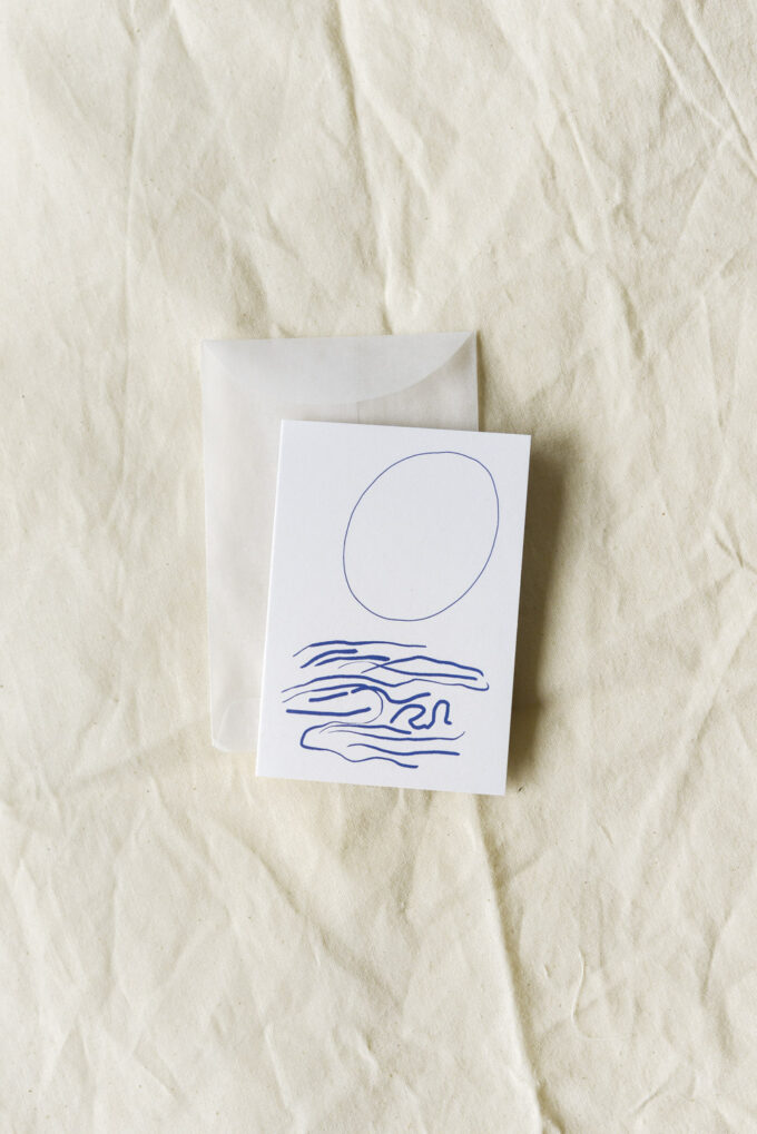 Sustainable stationery with a floral touch by Wilder Antwerp - double mini card