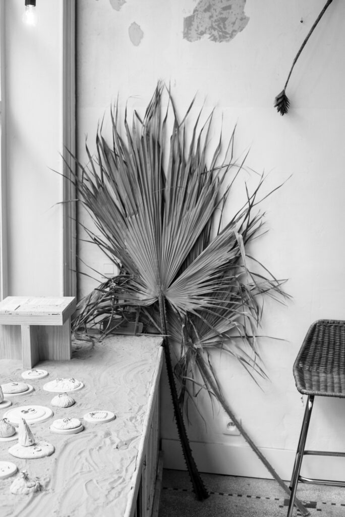 Viktoria Von Malottki jewelry presentation at flower shop Wilder Antwerp