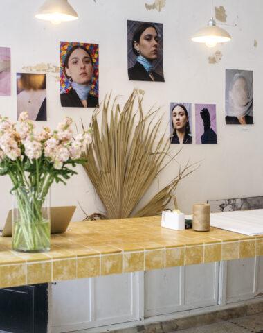 Viktoria Von Malottki jewelry presentation at flower shop Wilder Antwerp