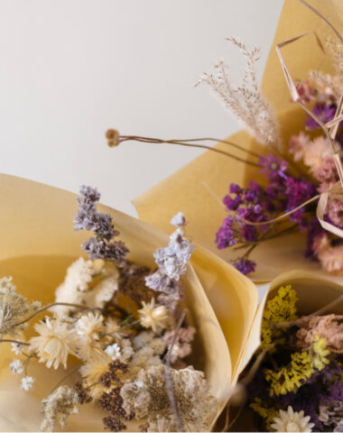 Organic dried bouquets for delivery by Wilder