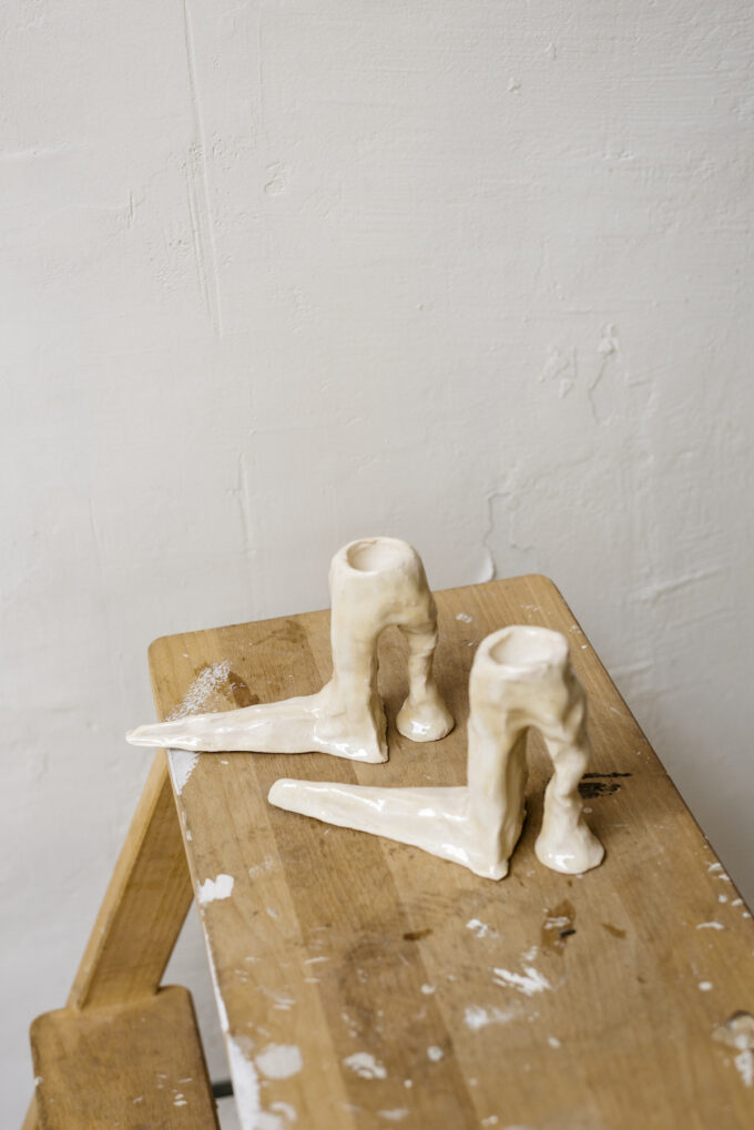 Hot Legs candlesticks by Laura Welker at Wilder Antwerp