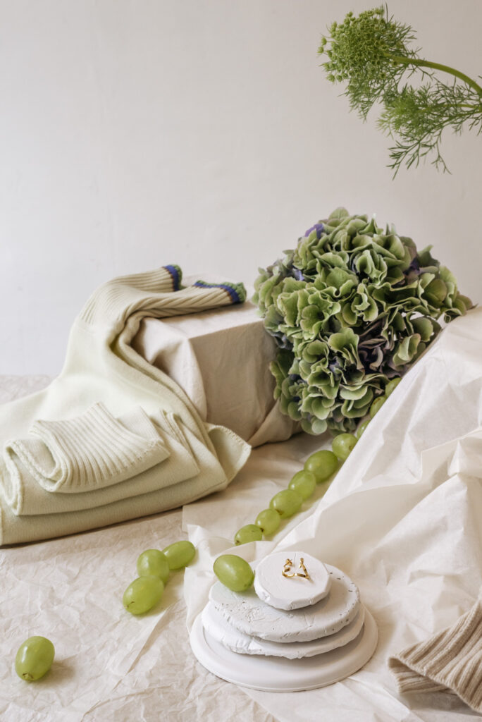 Maddalena Annunziata knitwear and Viktoria Von Malottki jewelry at Wilder flower shop