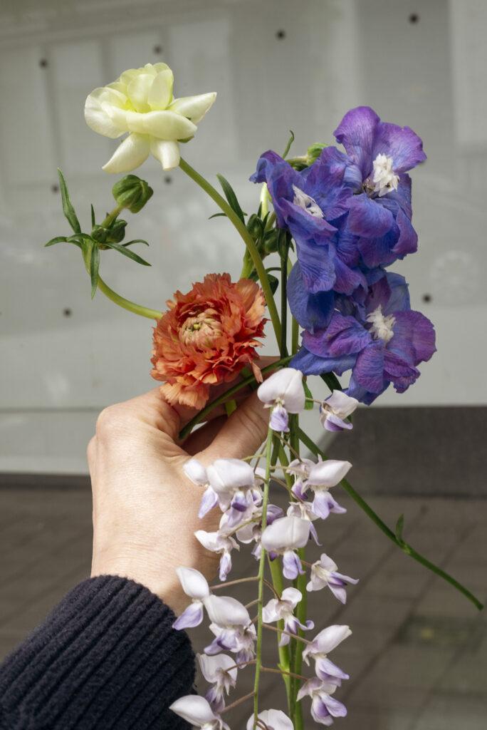 Handful of colorful seasonal summer flowers by Wilder Antwerp