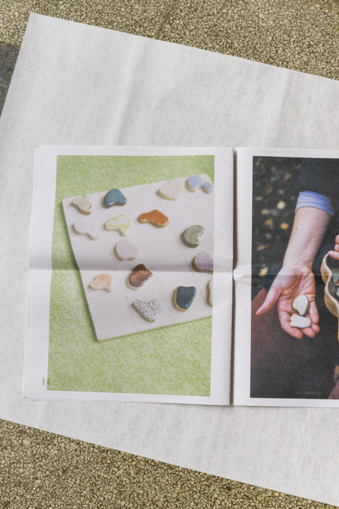 Sigrid Volders: Colours & Shapes, a newspaper about ceramic artist Sigrid Volders edited by Poetic Pastel Press with pictures by Johanna Tagada-Hoffbeck