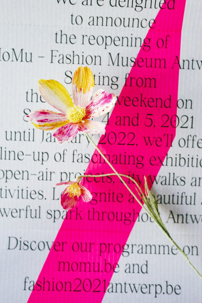 Paper flowers for MoMu Antwerp - Fashion 2.021